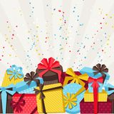 Celebration background or card with colorful gift Royalty Free Stock Image