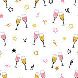 Celebration background with champagne glasses. Stock Photography