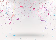 Celebration background with colorful confetti illustration. Illustration of Celebration background with colorful confetti illustration Royalty Free Stock Photos