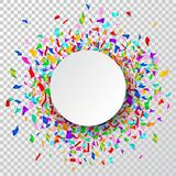 Celebration background. Background with colorful confetti and place for your text. Vector illustration.  Royalty Free Stock Image