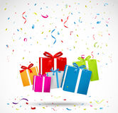Celebration background with colorful gift box Royalty Free Stock Image