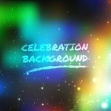 Celebration background. Colorful shine light vector background stock illustration
