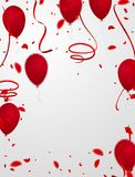 Celebration background with confetti and balloons. Abstract technology background vector business Stock Images