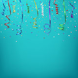 Celebration background with confetti and colorful Royalty Free Stock Image
