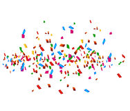 Celebration background with confetti Stock Photography