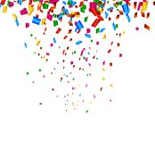 Celebration background with confetti royalty free illustration