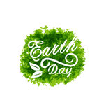 Celebration Background for Earth Day Lettering Royalty Free Stock Images