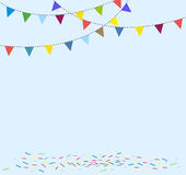 Celebration background with flag bunting. Sample Stock Image