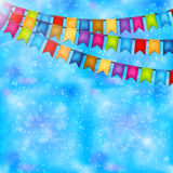 Celebration background with garlands of flags. Vector Stock Photos