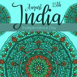 Celebration background for Indian Independence Day with text 15 August, colorful blots and place for your text. Celebration background for Indian Independence Royalty Free Stock Photos