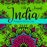 Celebration background for Indian Independence Day with text 15 August, colorful blots and place for your text. Celebration background for Indian Independence Royalty Free Stock Photo