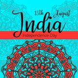 Celebration background for Indian Independence Day with text 15 August, colorful blots and place for your text. Celebration background for Indian Independence Stock Images