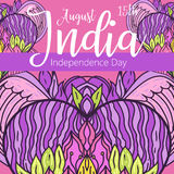 Celebration background for Indian Independence Day with text 15 August, colorful blots and place for your text. Happy Independence day India, Vector illustration Stock Photography
