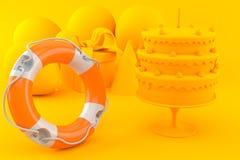 Celebration background with life buoy Stock Photos
