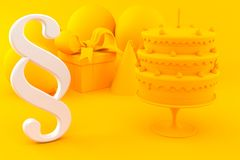 Celebration background with paragraph symbol. In orange color. 3d illustration Stock Photography
