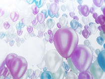Celebration background party balloons. Group of multi color party balloons on white background Stock Photography