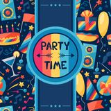 Celebration background with party icons and Royalty Free Stock Photos