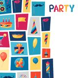 Celebration background with party icons and Royalty Free Stock Images