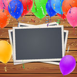 Celebration background,with photo frames and Royalty Free Stock Images