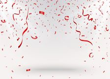 Celebration background with red confetti. Illustration of Celebration background with red confetti Royalty Free Stock Images