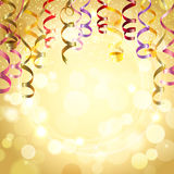 Celebration Background With Streamers Stock Photography