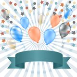 Holiday banners with colorful balloons. Royalty Free Stock Image
