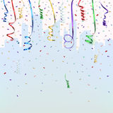 Celebration background template with confetti Stock Photo