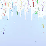 Celebration background template with confetti Stock Photos