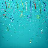 Celebration background template with confetti and Royalty Free Stock Image
