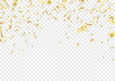 Celebration background template with confetti and gold ribbons.and Gold White ribbons. Vector illustration vector illustration
