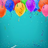 Celebration background template with konfetti Stock Photos