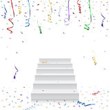 Celebration background template with stairs and Stock Photo