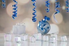 Celebration backgroungd. Christmas and New Year celebration card royalty free stock photography