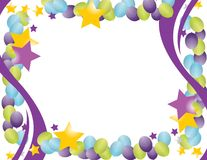 Celebration balloon frame. With stars isolated over a white background Stock Photography