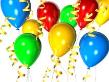 Celebration balloons Royalty Free Stock Image