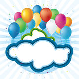 Celebration balloons Stock Photos