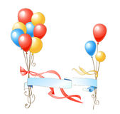 Celebration balloons Stock Images