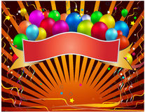 Celebration banner. Balloon in white background Royalty Free Stock Photos