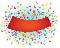 Celebration Banner. A colourful celebration banner with space for type Royalty Free Stock Photos