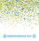 Celebration Banner for Indian Independence Day with Confetti in National Colors. 15th of August - Illustration Vector Stock Photography