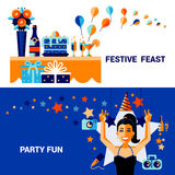 Celebration Banners Set Stock Photography