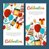 Celebration Banners Set Stock Images