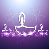 Celebration  Beautiful festival happy diwali bac Royalty Free Stock Photo