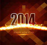 Celebration Beautiful Happy new Year 2014. Colorful Vector Illustration
