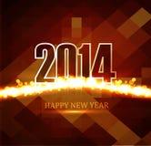 Celebration Beautiful Happy new Year 2014 Stock Photo