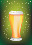 Celebration beer glass Royalty Free Stock Photography