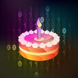 Celebration in binary internet modern space vector Stock Photos