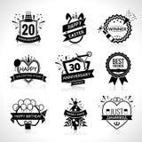 Celebration Black Emblems Set Royalty Free Stock Photos