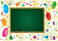 Celebration Board Frame_eps. Illustration of celebration wallpaper with board frame to write your sample text Royalty Free Stock Photography