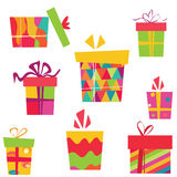 Celebration box set Royalty Free Stock Images
